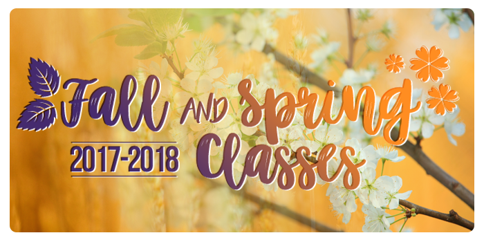 Fall and Spring Classes 2017-2018